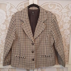 Mossimo 3 button Houndstooth Blazer #01131